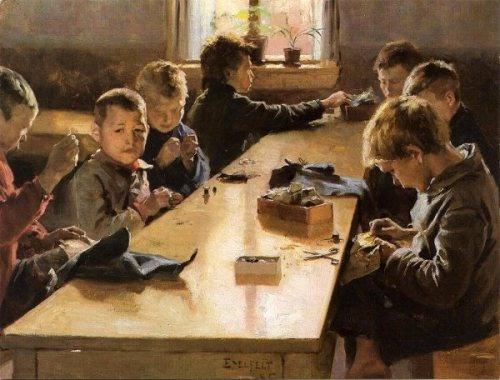 Finnish Painter: Albert Edelfelt (1854 – 1905), 'Vixen'