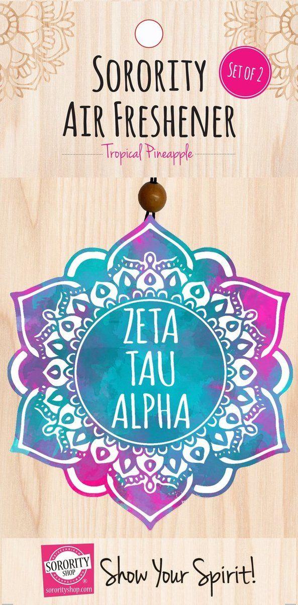 Zeta Tau Alpha ZTA Sorority Mandala Air Freshener - Brothers and Sisters' Greek Store