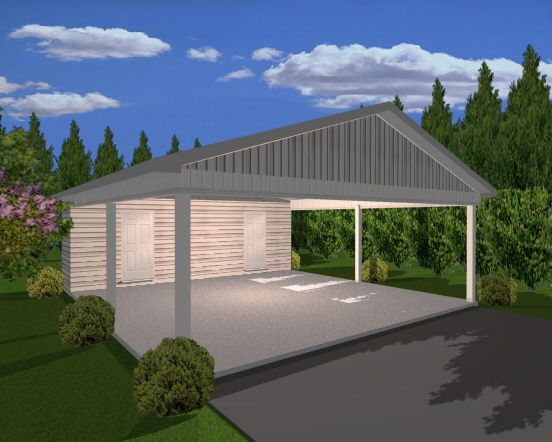 If you are looking for an economical way to provide for Backyard carport designs