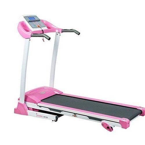 Sunny Health & Fitness P8700 Pink Treadmill NEW