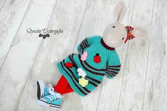 Szydełkowy króliczek Chloe