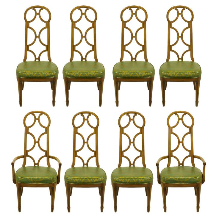 Awesome Mastercraft Furniture For Sale #9: View This Item And Discover Similar Dining Room Chairs For Sale At - Set Of Eight Early Mastercraft Walnut Dining Chairs With Reverse Quatrefoil Carved Open ...