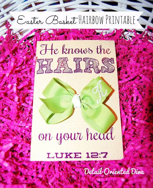 30 best gods little princess images on pinterest girl nurseries today i bring you this hairbow printable based on luke 127 you could easter basket ideascustom negle Choice Image