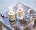Log Lamp - The Oak Men - Stehleuchte - Dimmer - massiv - rustikal - Holz