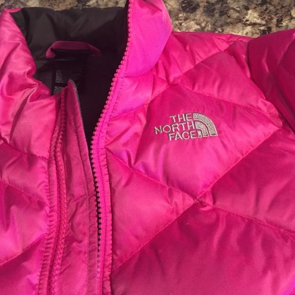 Girls north face coat pink size 10/12 like new Like new awesome pink north face. Your little girl will love it. North Face Jackets & Coats