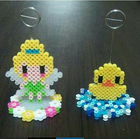 Tinkerbell and Cuak Perler Beads