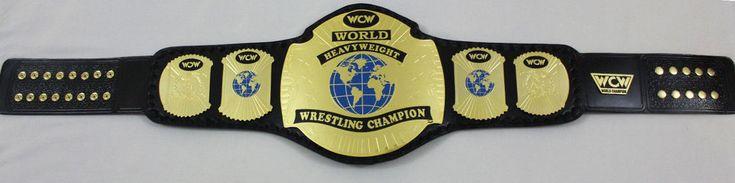 WCW WORLD HAEVYWHEIGHT WRESTLING CHAMPIONSHIP GOLD PLATED BELT #Handmade #Belt