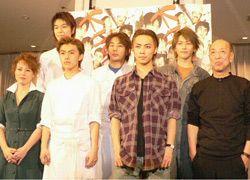 写真/上段左から長谷川博己、高橋洋、須賀貴匡、下段左から杉田かおる、勝地涼、成宮寛貴、蜷川幸雄