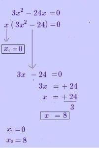 """Ejemplo de como calcular una ecuación de segundo grado incompleta cuando el término que falta es la """"c"""""""