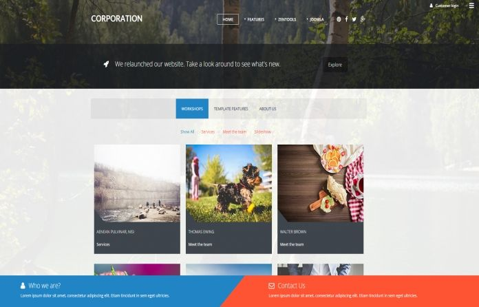Corporation - elegant, flexible, bright & beautiful #corporate #template for #Joomla.