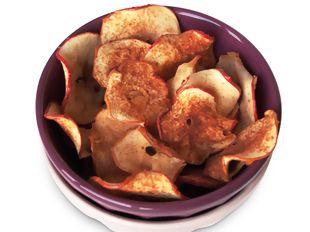 Chips de maçã com canela... Uma maneira deliciosamente diferente de saborear este fruto