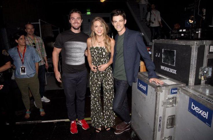 Stephen, Grant & Melissa at Canon. #SDCC2016 #Arrow #TheFlash #Supergirl