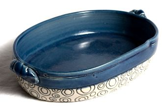 $60.00 Ceramic Casserole Dish, Handcrafted by Practical Art artisan Beth Shook.
