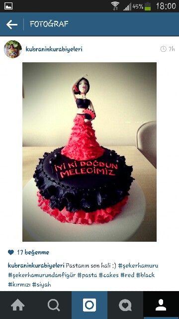 Kırmızı siyah çingene pastam