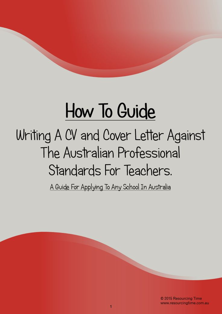 A 25 page extensive guide of how to write a strong CV and Cover Letter or Statement of Claim against the AITSL Standards. Suitable for all teachers across Australia. Includes two editable Word CV Templates.