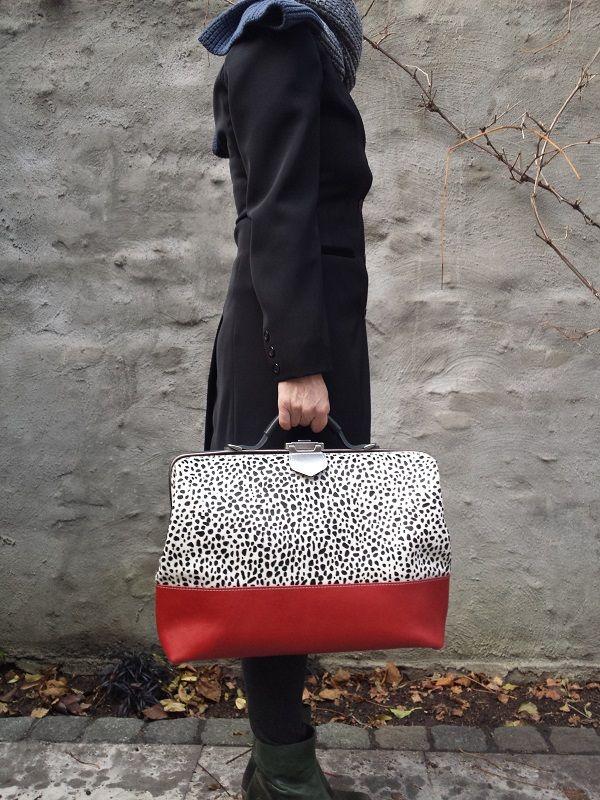 Dokterstas werktas laptoptas cheetah rood