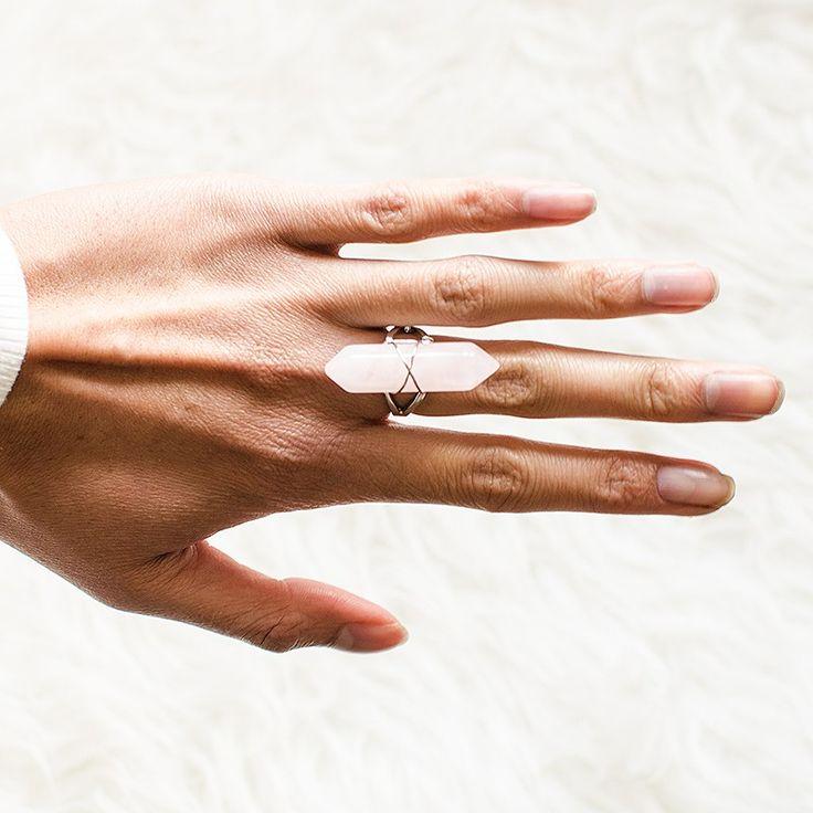 """Gemstone ring """"Rosequartz"""""""