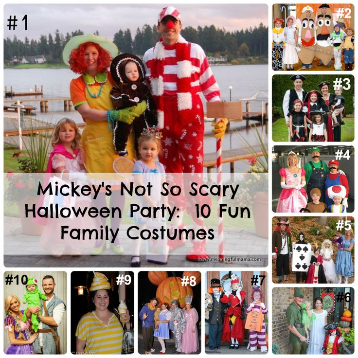 Mickey's Not So Scary Halloween Party-10 Fun Family Costumes