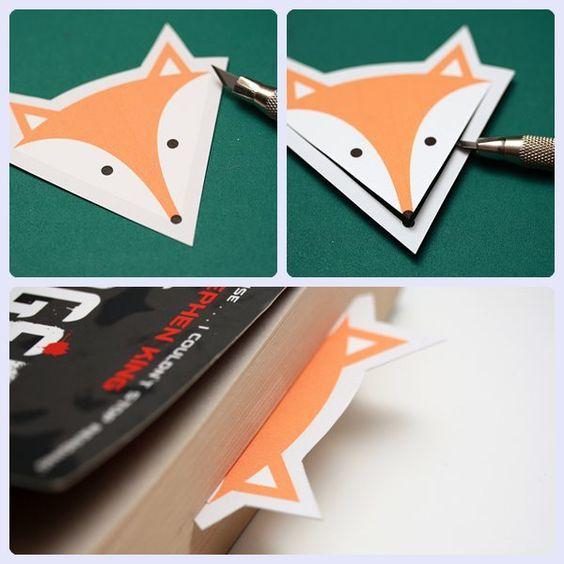 Marcapáginas de zorro para imprimir gratis: