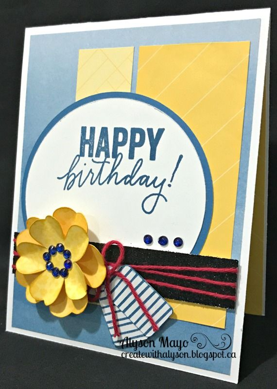 Birthday card with Stamped Flower
