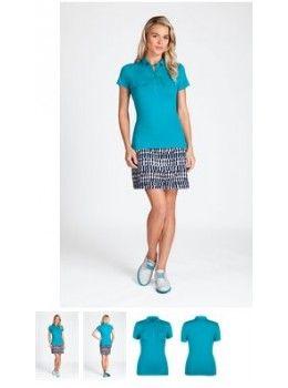 Tail Women's Tourmaline Solid Pocket Short Sleeve Golf Top  #ladiesgolfapparel #ladiesgolfclothing #womensgolfapparel #womensplussizes #golfplussizeclothing