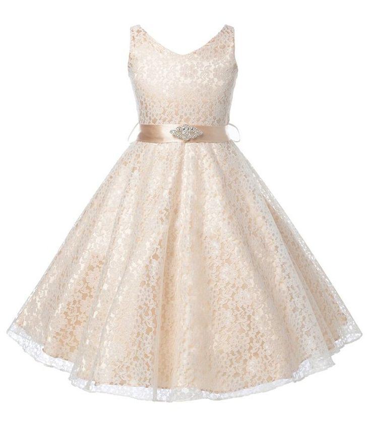 Pas cher Filles usure du parti robe enfants 2015 fleur dentelle enfants filles élégante cérémonie de mariage d'anniversaire robes adolescents de bal robes, Acheter  Robes de qualité directement des fournisseurs de Chine: