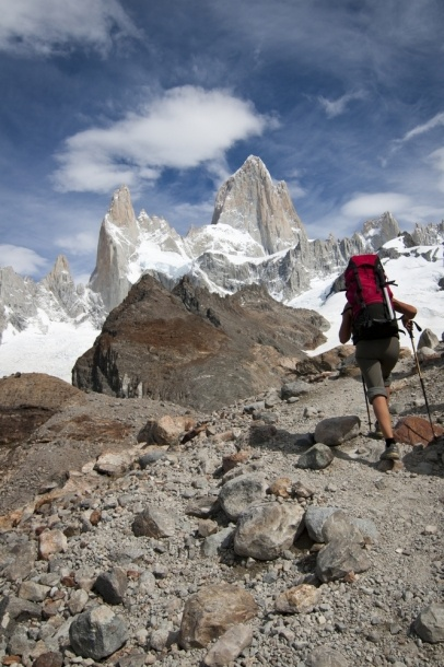 MOUNT FITZ ROY, PATAGONIA. Not sure if this was the actual route we took, but the views were equally amazing!