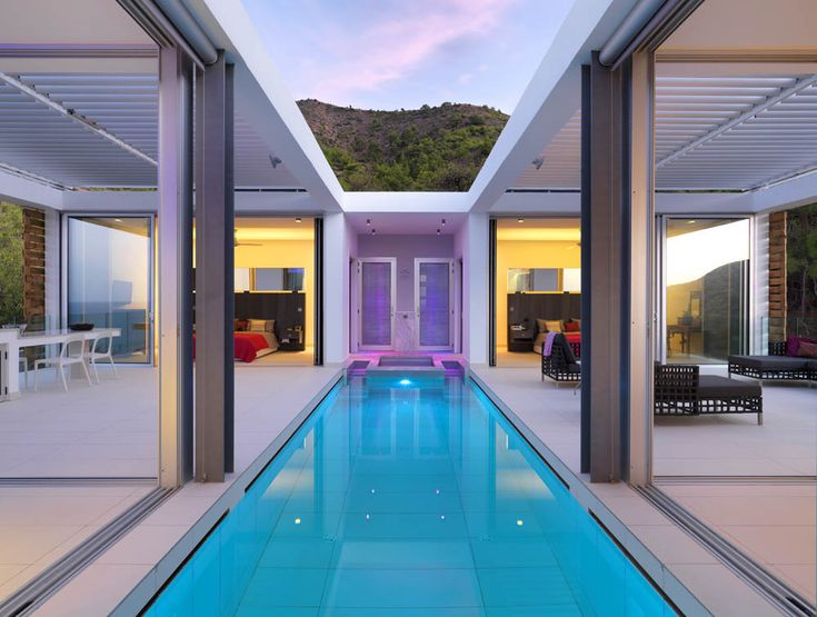 Indoor pool villa  Swimming Pools That Transport Us To A Place Where Stress Doesn't ...