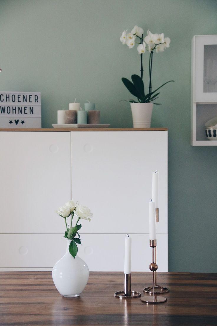 Interior Goals Mit Rosegold Kupfer Mintgrun Dekoration Einrichtung Inspiration Wohnzimmer Orchideen Schoner Wohnen Wandfarbe Schoner Wohnen Grune Dekoration