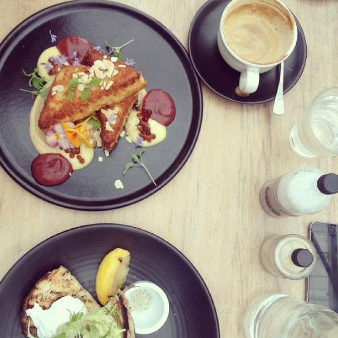 Breakfast at Industry Beans. Fitzroy never disappoints!