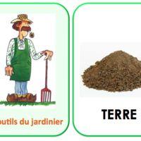 Imagier des outils du jardinier