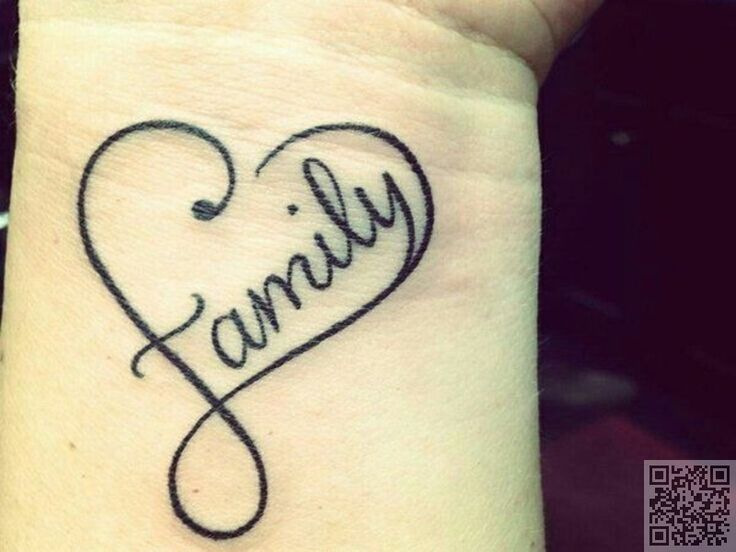 18. #Family - 34 of the Best Word Tattoos You'll Ever See ... → #Beauty #Disney