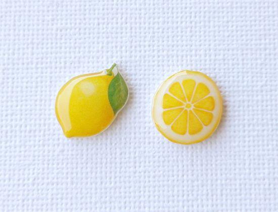 minne(ミンネ)| レモンのピアス