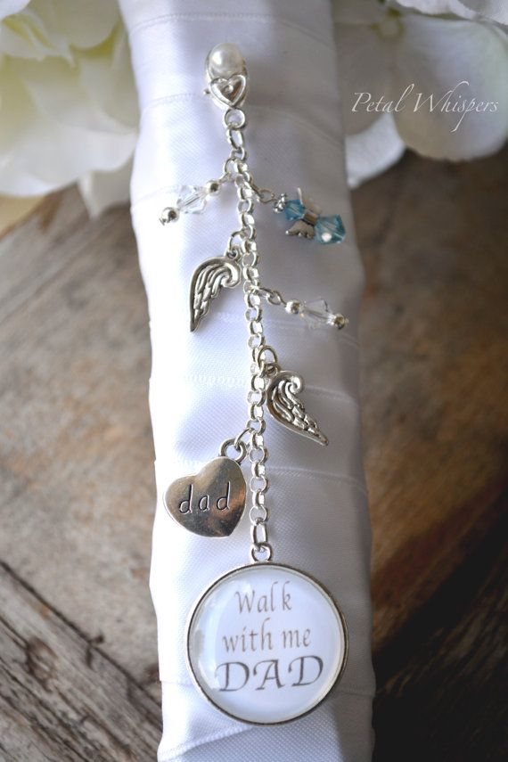 Wedding Bouquet Charm Something Blue Bouquet by PetalWhispers