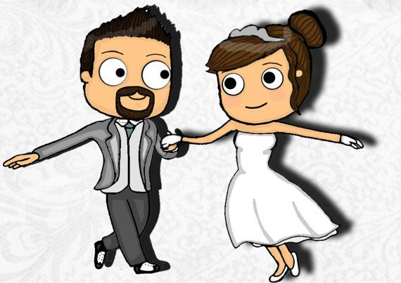Check out this item in my Etsy shop https://www.etsy.com/listing/220676840/2-character-custom-cartoon-wedding