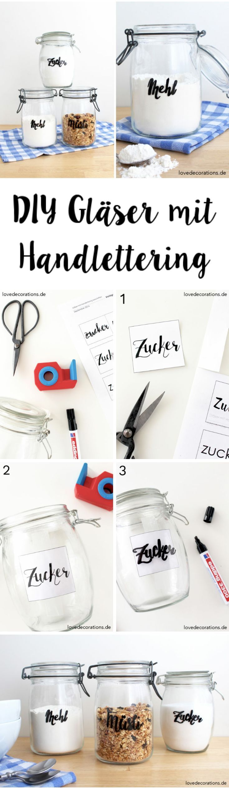 DIY Gläser mit Handlettering beschriften und ein bisschen von den Anfängen meines Bloggerlebens
