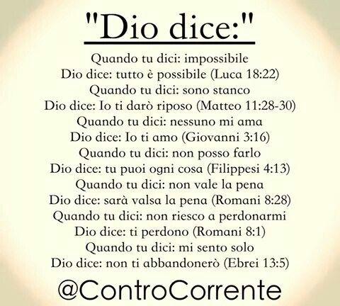 Dio dice