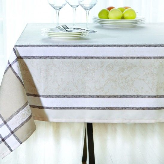 Jacquard Beige Tablecloth Collection
