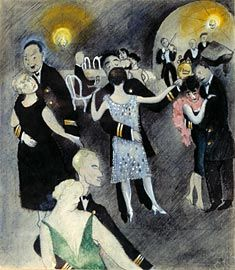 Greta Hällfors-Sipilä, Charlestons and the blues in action. watercolour, 1927.