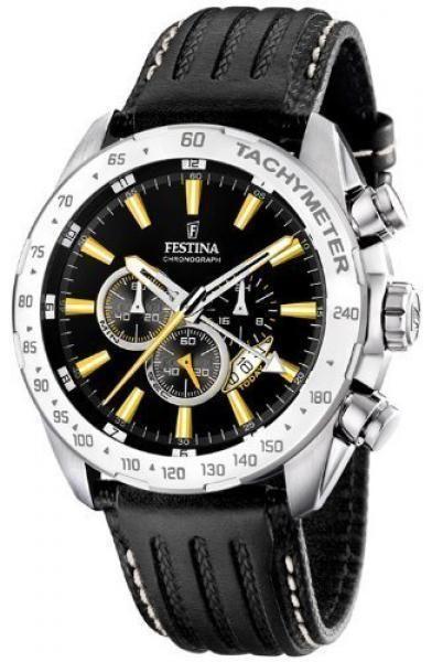FESTINA men's wristwatch Dual Time Chronograph Chrono F16489/2 #Festina