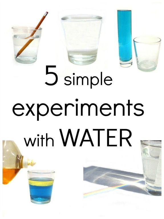 Simpele proefjes met water.
