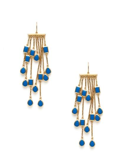 Isharya Blue Enamel Dangle Earrings: Shiny Things Jewelry, Collection Jewelry, Jewelry Inspiration, Enamels Jewelry, Enamels Dangle, Blue Enamels, Dangle Earrings, Accessories, Isharya Blue