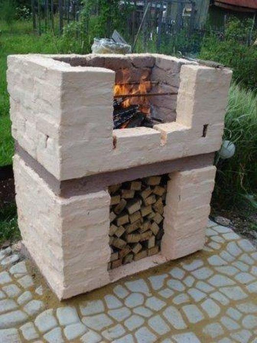 Хороший вариант оформления места для приготовления пищи на открытом воздухе.
