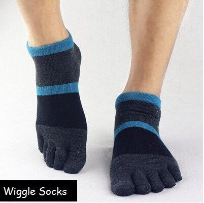 Wiggle Socks: Unisex Toe Socks, Toe Separator Socks, Five Finger Socks, 5 Toe Socks, 5 Finger Socks, Toe Shoe Socks: Dark Blue Black