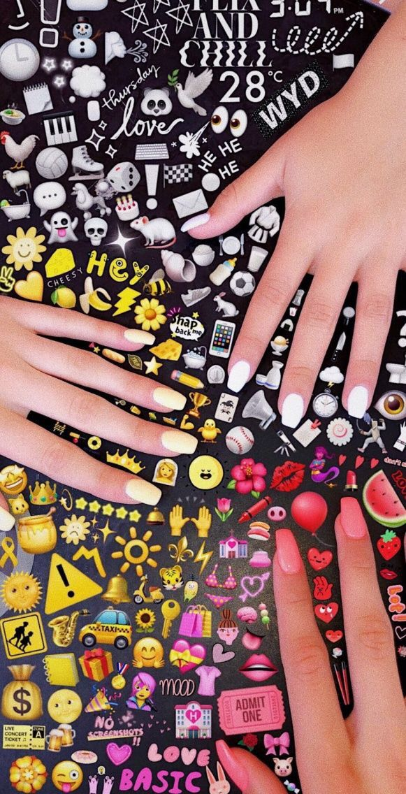 Picture Idea Tumblr Emojis Rainbow Nails Vintage Emoji Pictures Cute Nails Acrylic Nails