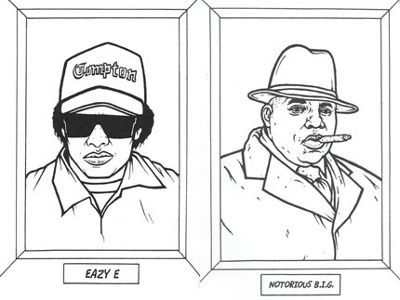Gangsta Rap Coloring Book Take A Look Its In