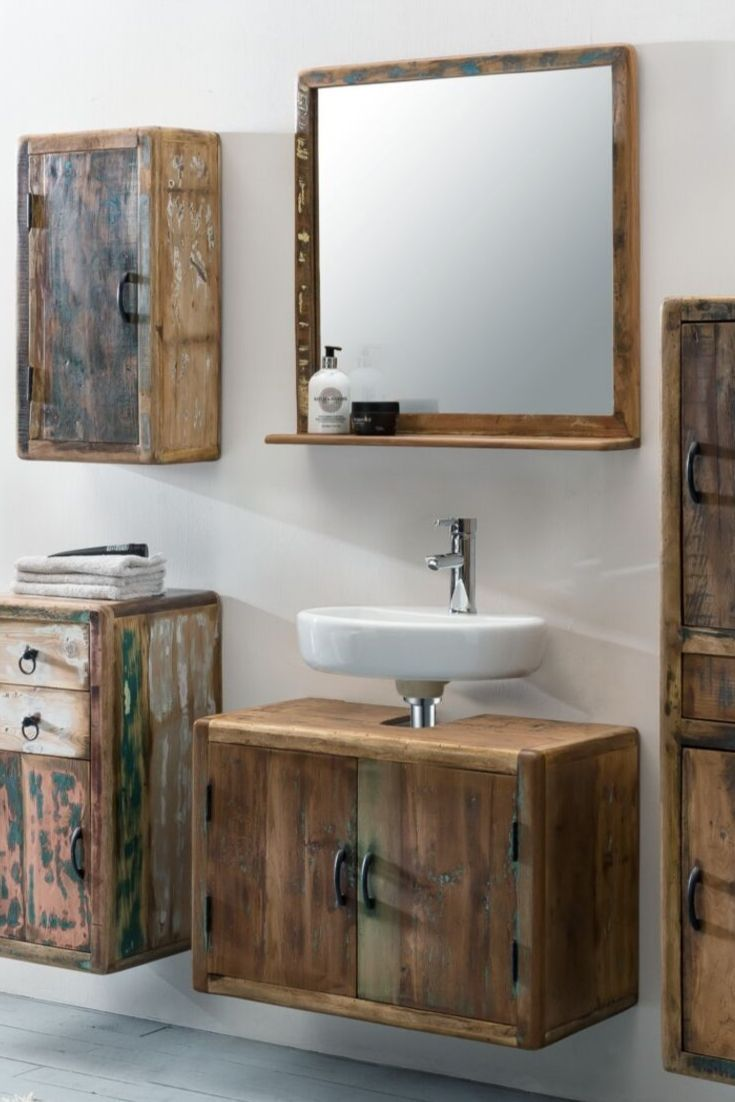 Woodkings Shop Waschbeckenunterschrank Waschbeckenunterschrank