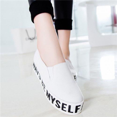 Свободного покроя комфорт женская круглого Toe Slip на слова печать плоская платформа обувь мокасины оксфорд обувь купить на AliExpress