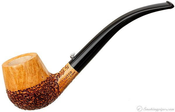 L'Anatra Partially Rusticated Bent Brandy Pipes at Smoking Pipes .com