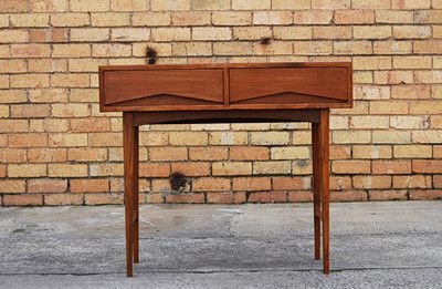 Teak Hall Side Table Desk Retro Danish Parker Featherston Style in Melbourne, VIC | eBay